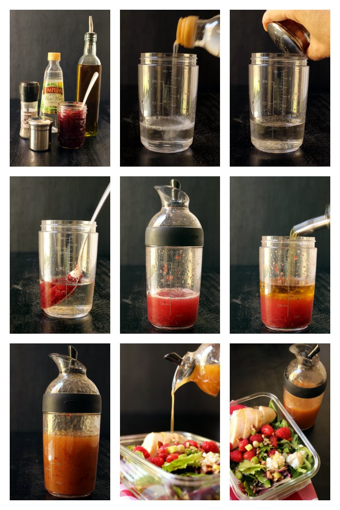 step by step images for making vinaigrette