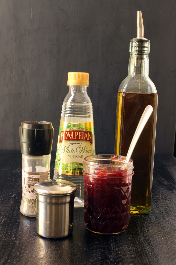 ingredients for Raspberry Vinaigrette