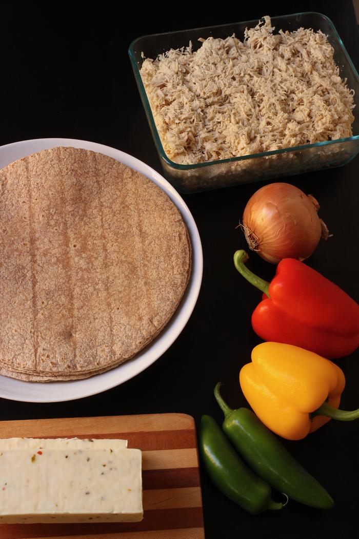 ingredients for burritos