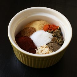 spices for chili seasoning in bowl