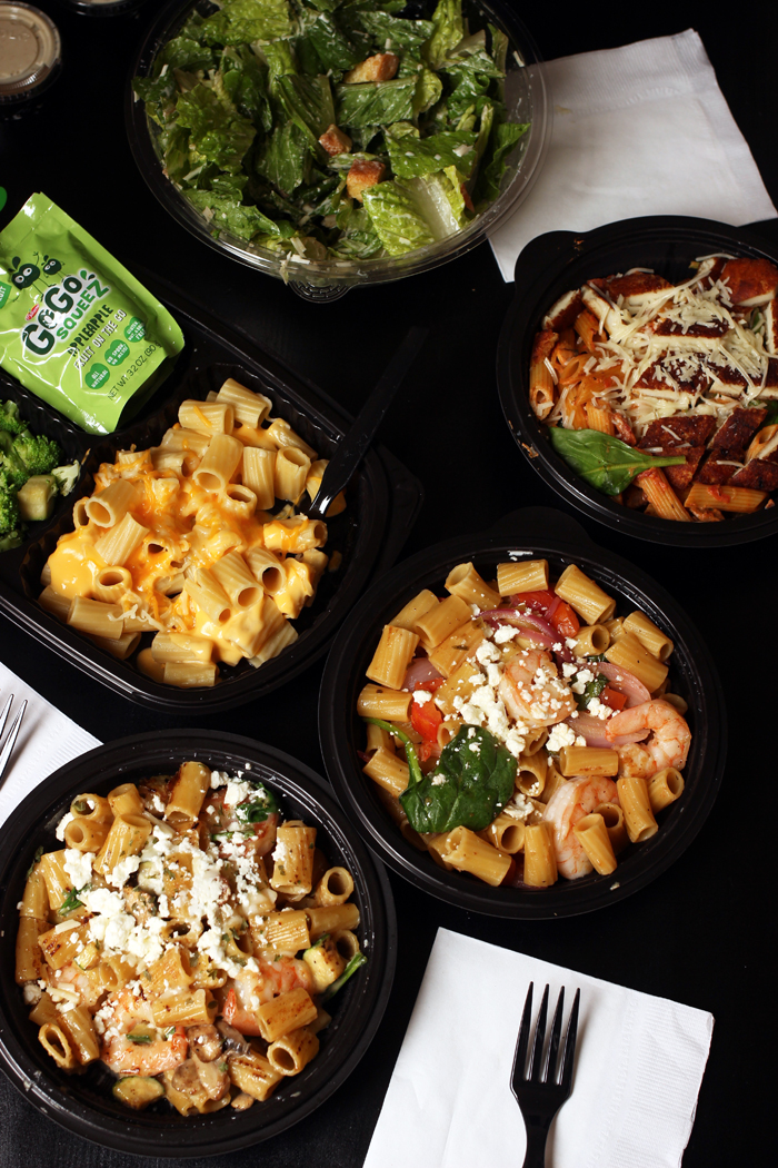 array of dishes from noodles company