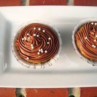 Banana Cupcakes on tray