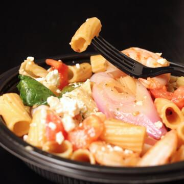 A bowl of Rigatoni