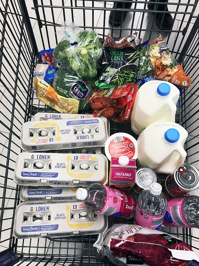 ALDI grocery cart for pantry challenge
