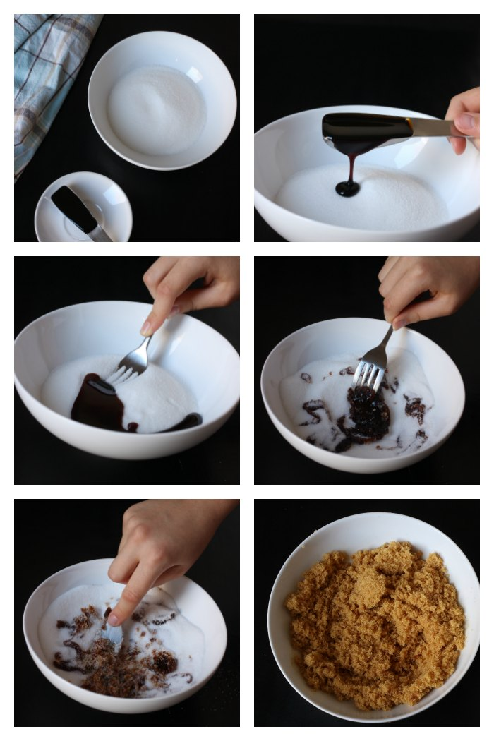 step by step photos of making brown sugar
