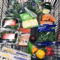 cart of groceries at ALDI