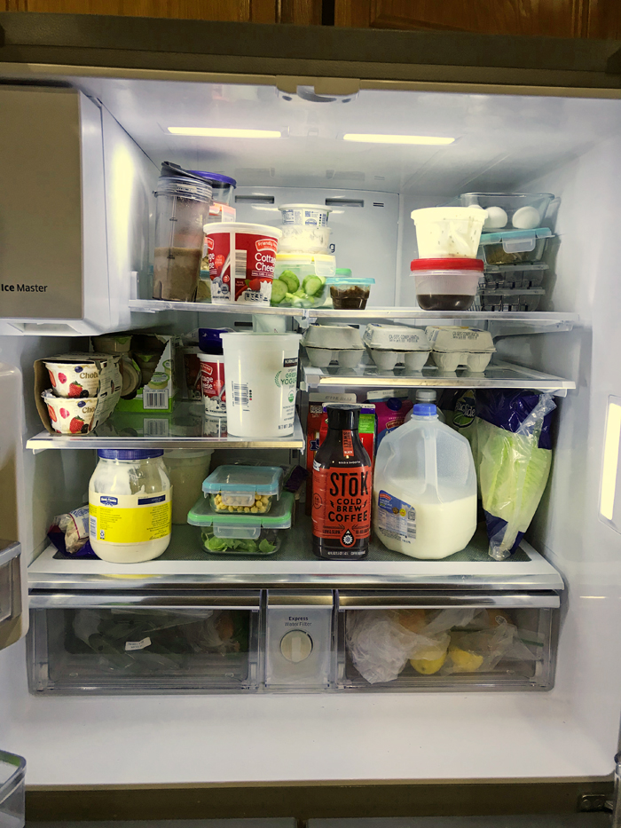 open fridge during a pantry challenge