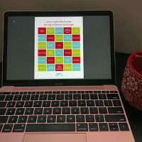 laptop screen with meal planner open