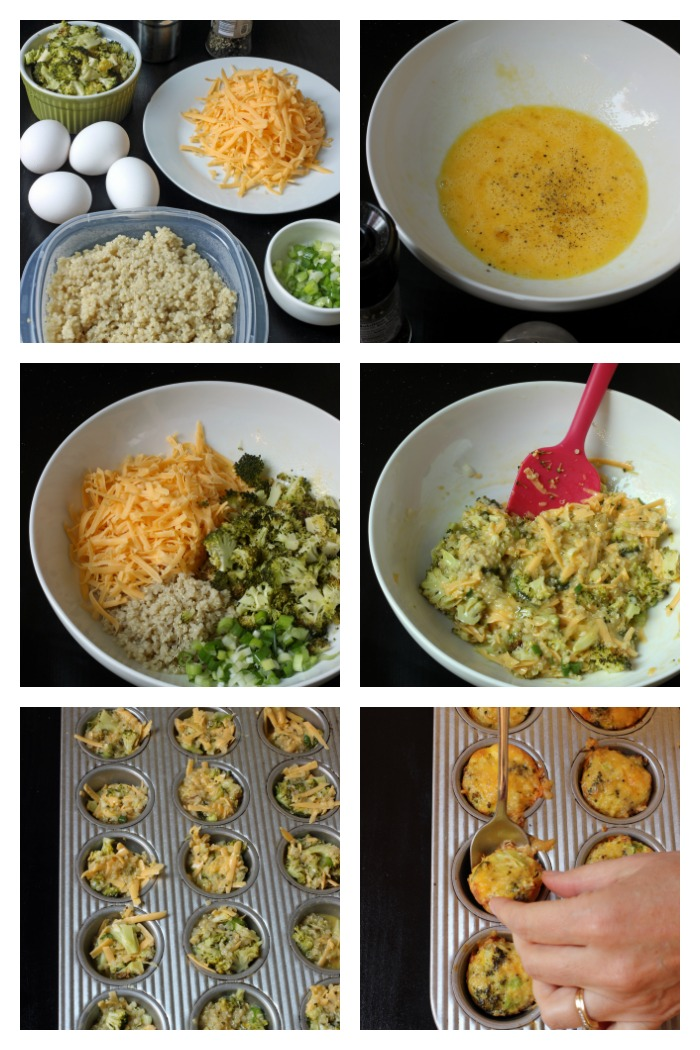step by step photos of how to make quinoa egg bites