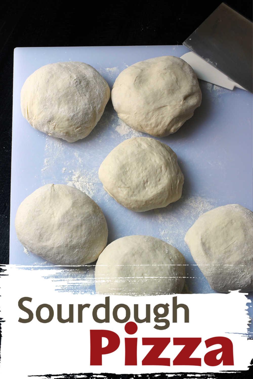 pinterest image of sourdough pizza crust