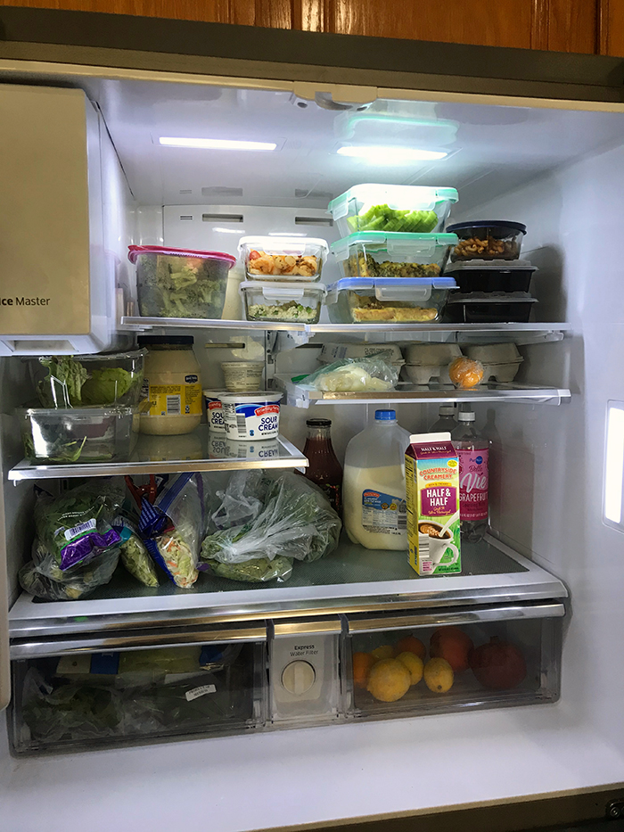fridge at the end of pantry challenge