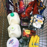 cart of groceries at Ralphs
