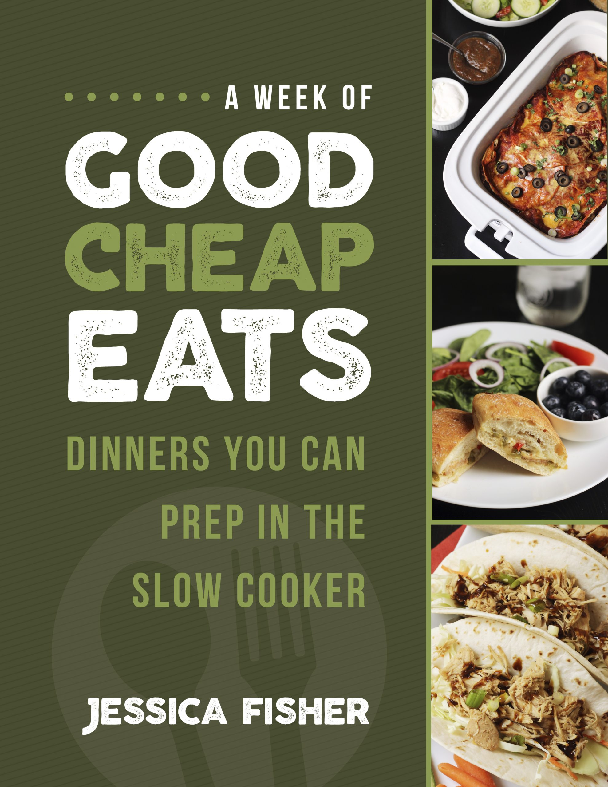 cover image of slow cooker weekly meal plan