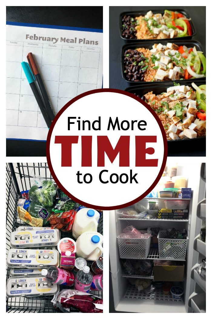 collage of ways to find more time to cook