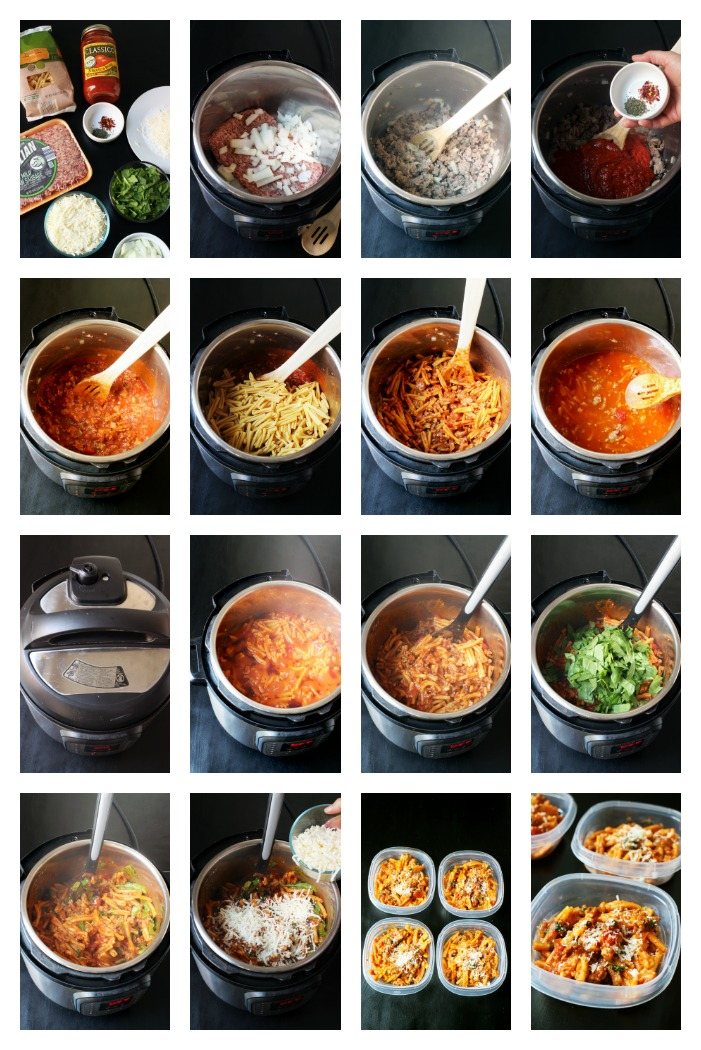 step-by-step photos to make pasta in the instant pot