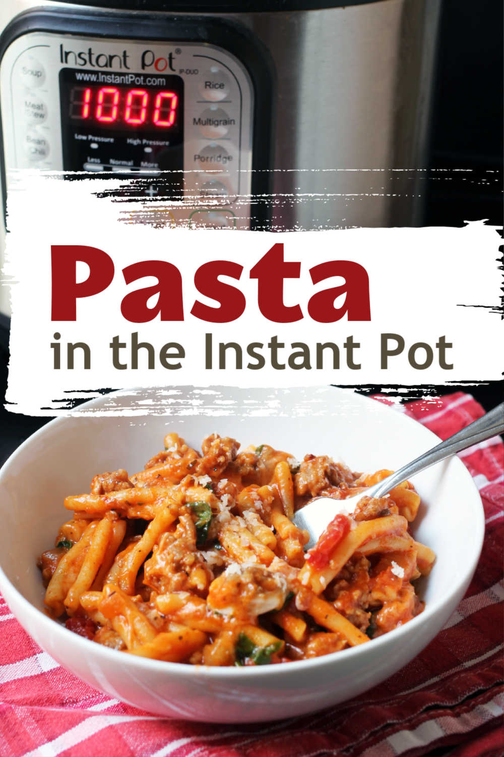 Pasta in the Instant Pot