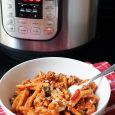 instant pot and bowl of pasta