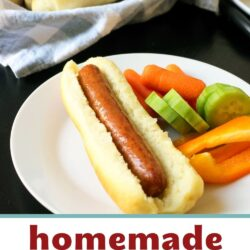 homemade hot dog buns on table set for party.