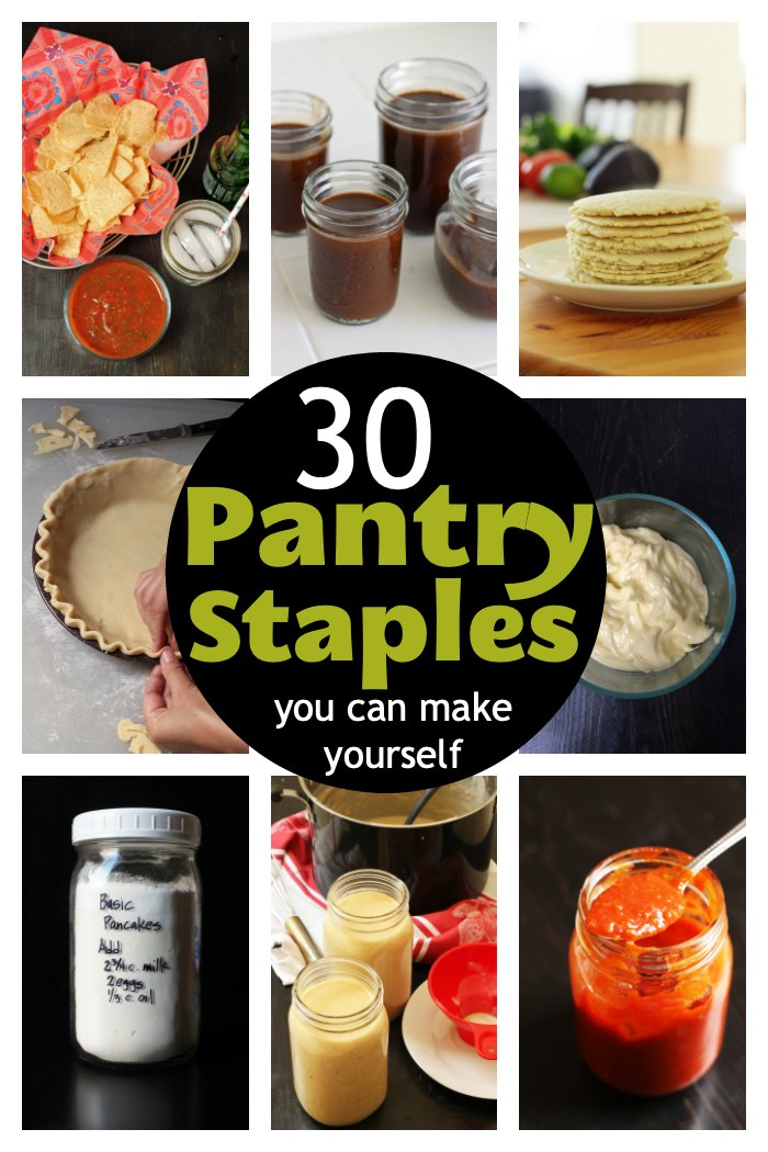 collage of pantry staples you can make yourself