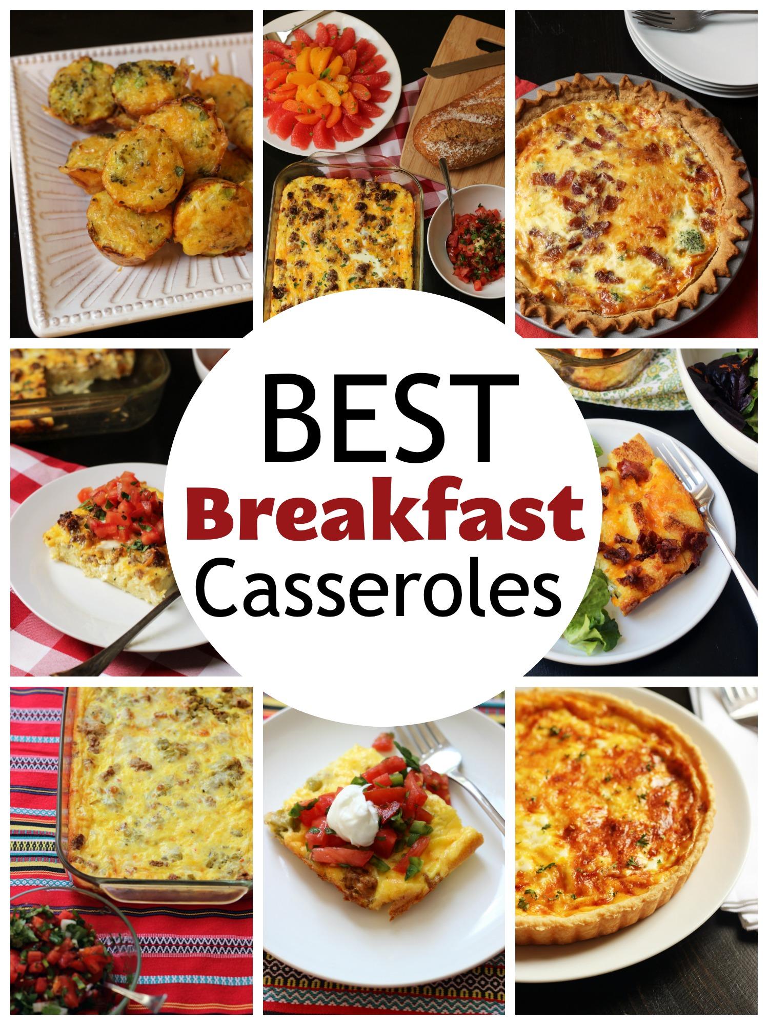 collage of best breakfast casseroles