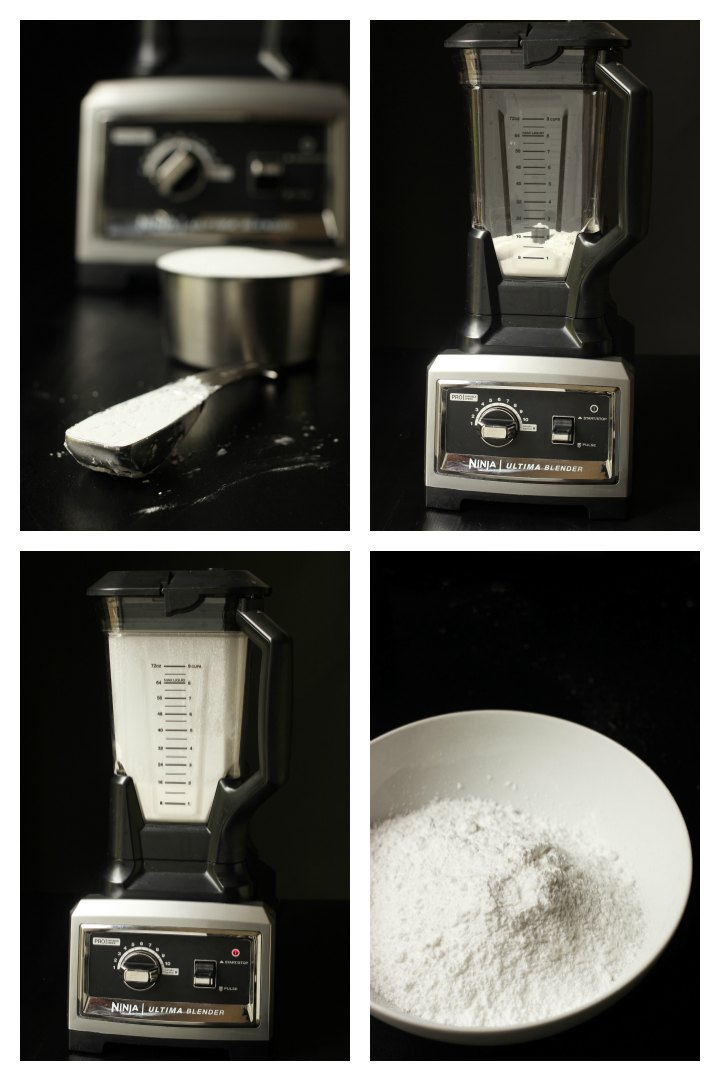 step by step photos for making powdered sugar