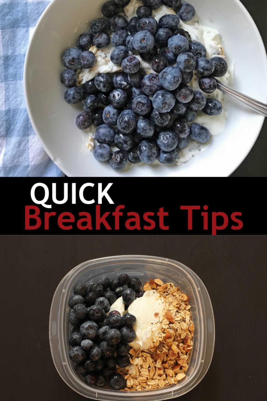 bowls of yogurt with blueberries and Muesli