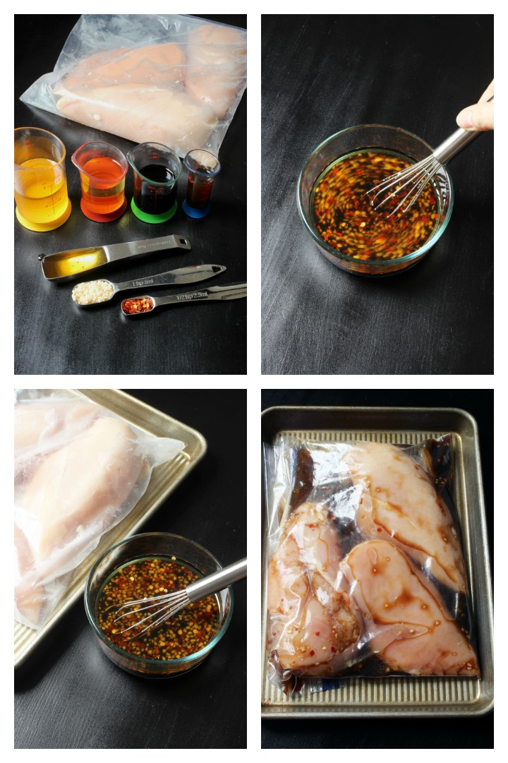 step by step photos of making asian chicken marinade