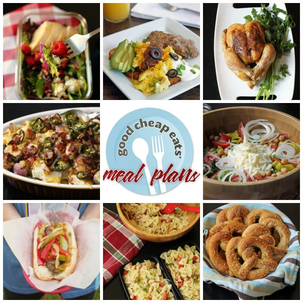 collage of recipes in meal plan 20-8