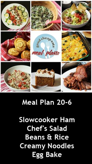banner ad for 20-6 meal plan