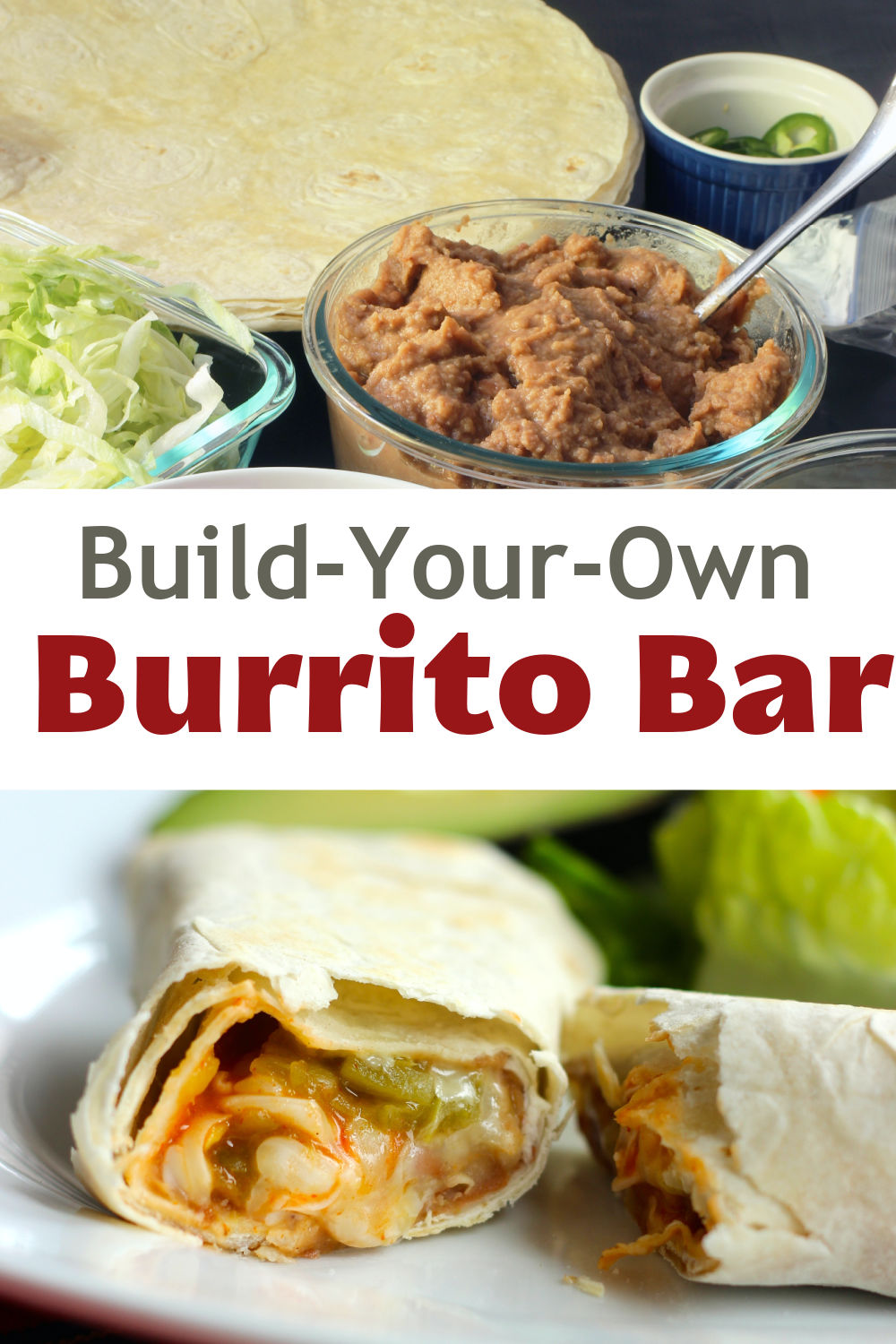 pinnable image of burrito bar
