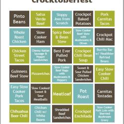 image of crocktoberfest meal planning page