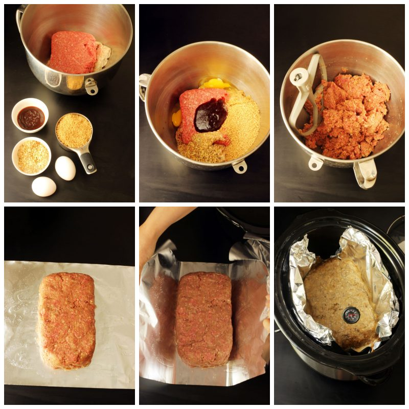 step by step photos of how to make slow cooker meatloaf