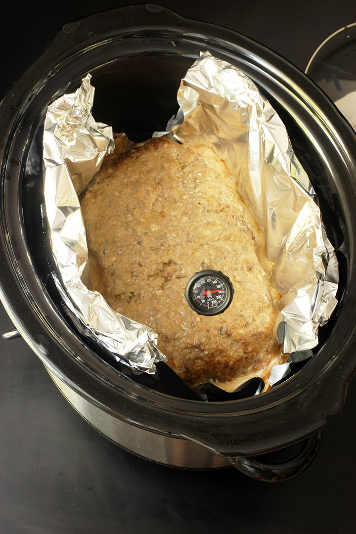 testing internal temperature of meatloaf in slow cooker