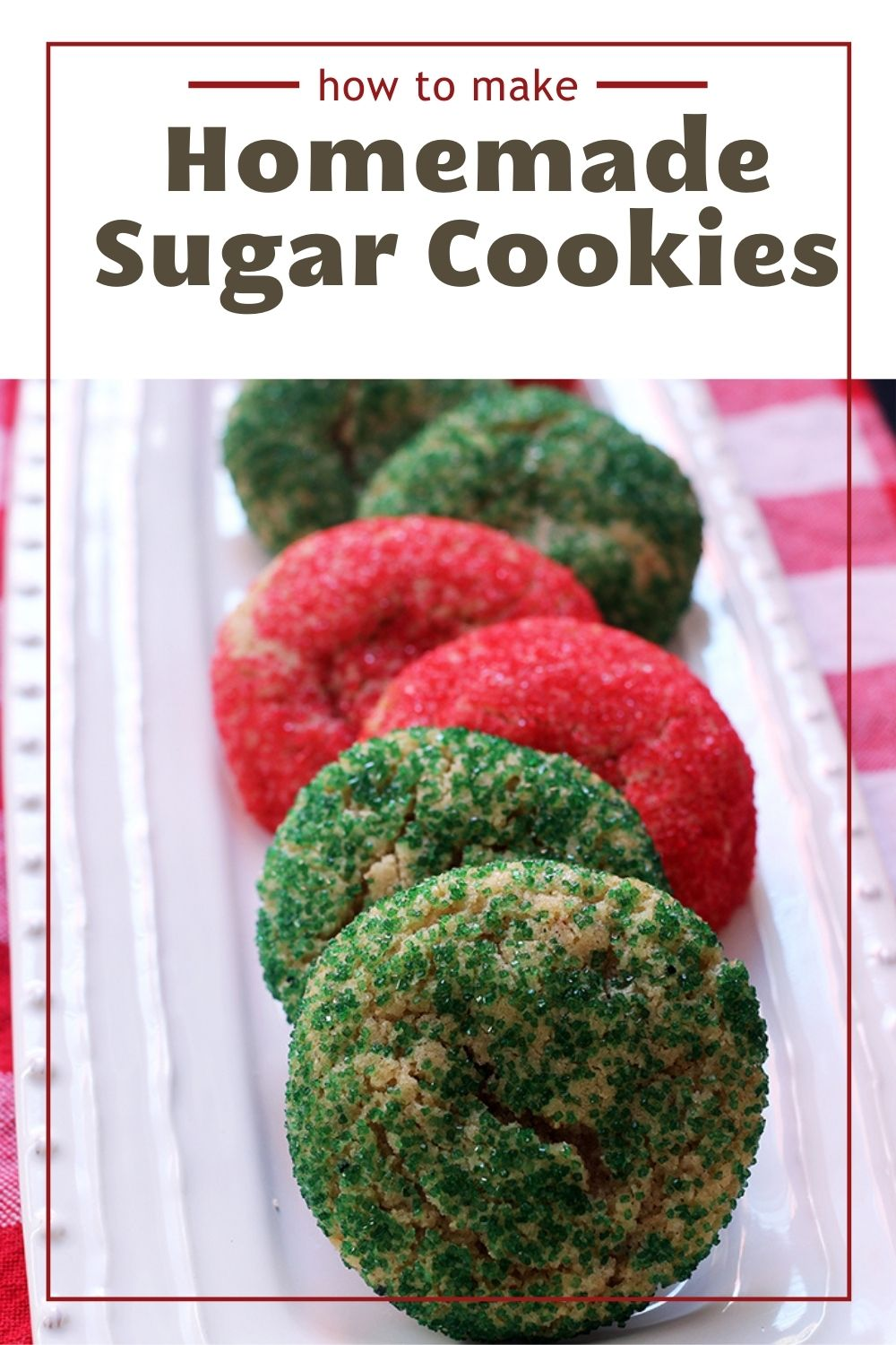 PIN image for Homemade Sugar Cookies