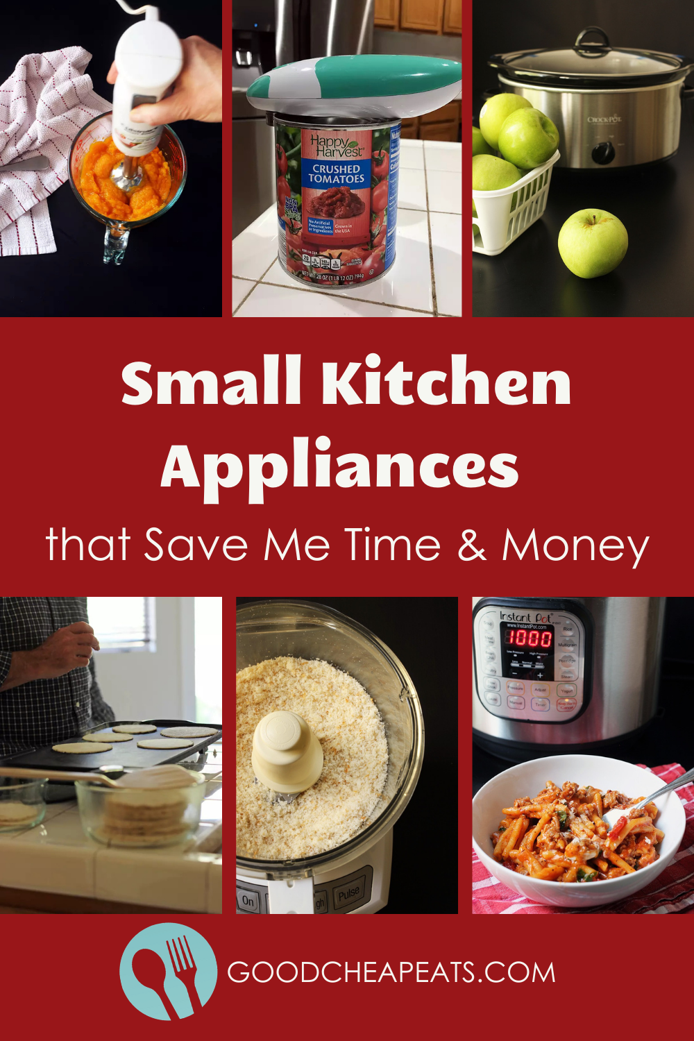 collage of small kitchen appliances