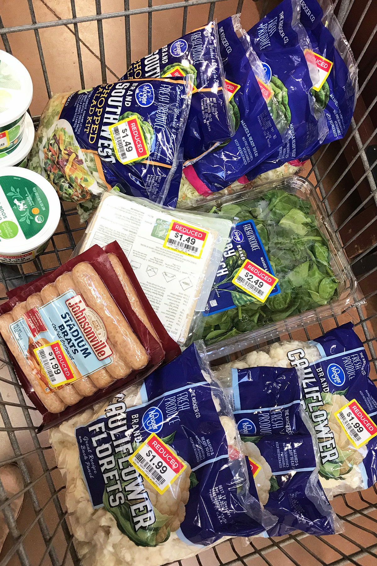 cart of kroger clearance groceries