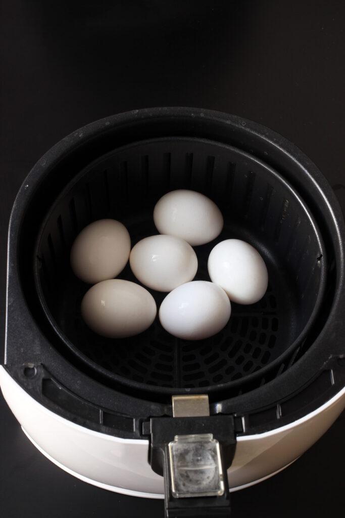 eggs in air fryer basket