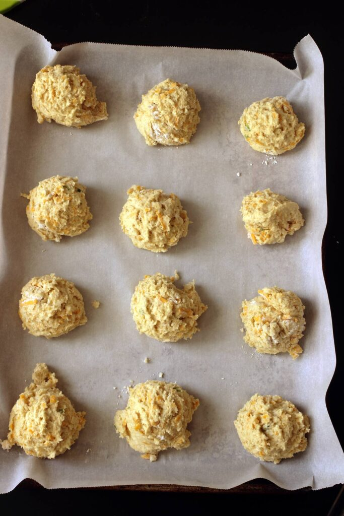 drop biscuits on tray