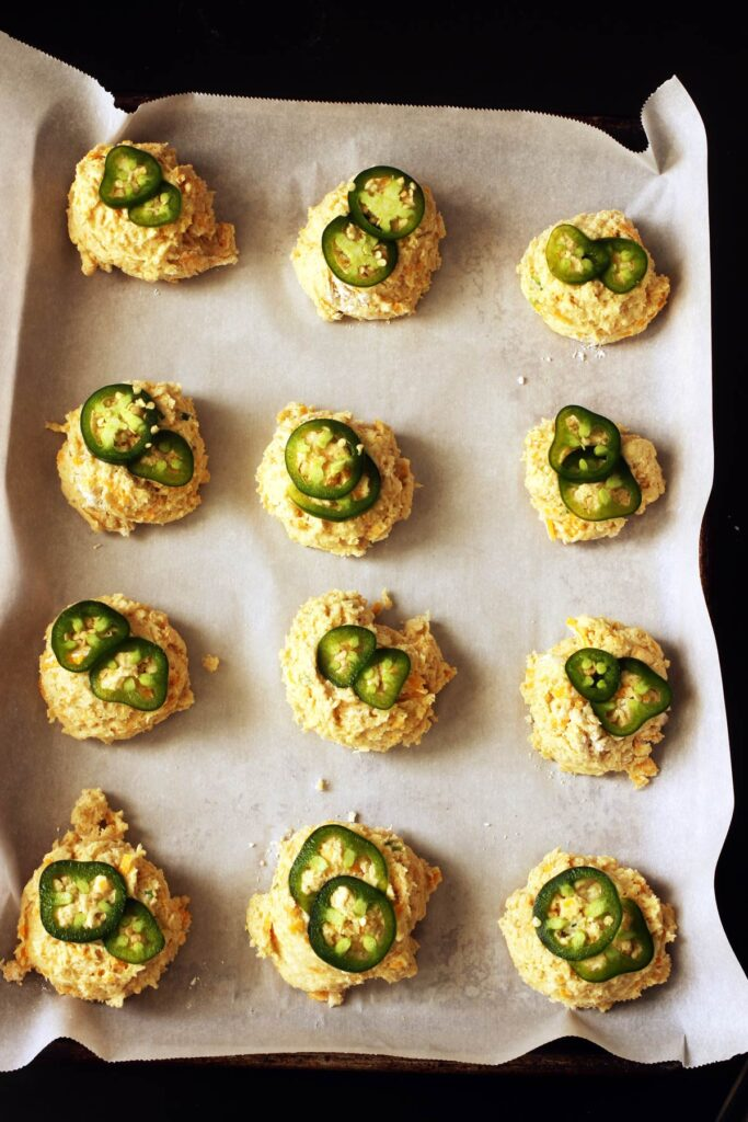 jalapenos on biscuits