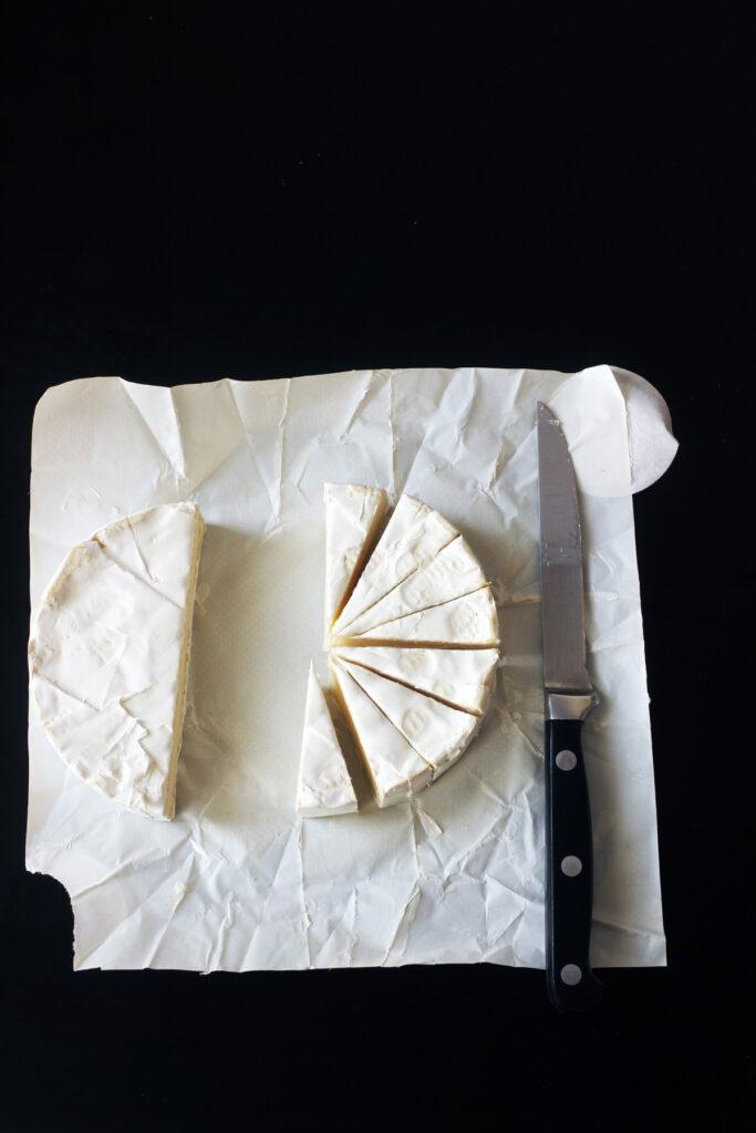 cheese cut into slices