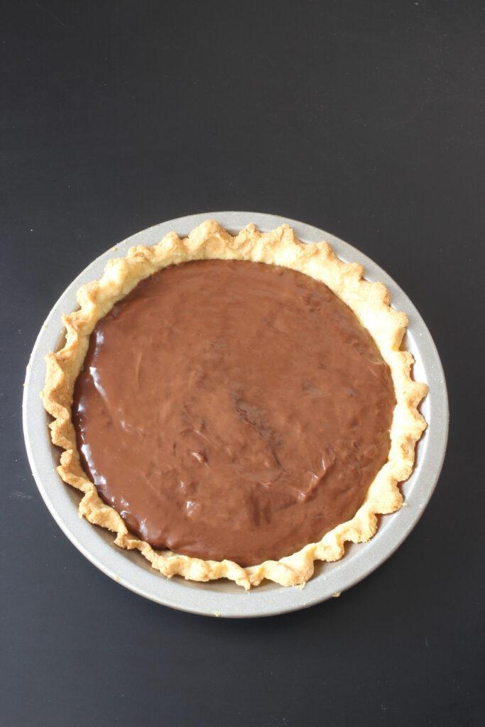 chocolate filling in crust