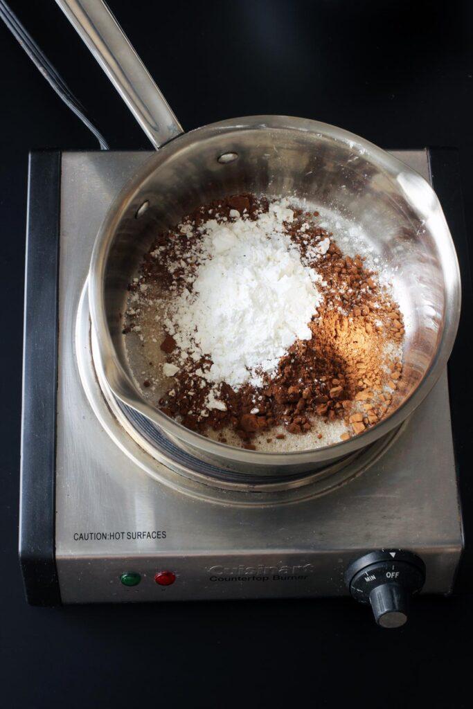dry ingredients in pot