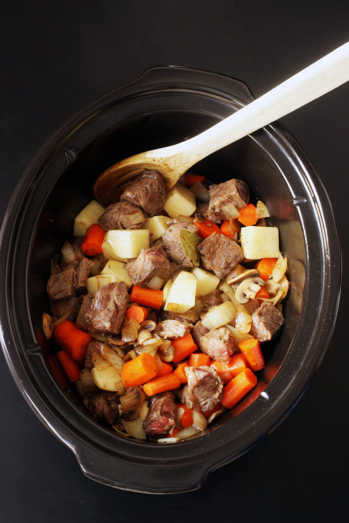 ingredients for stew in slow cooker