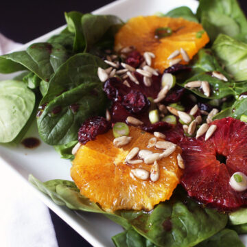 spinach salad with oranges and cranberries
