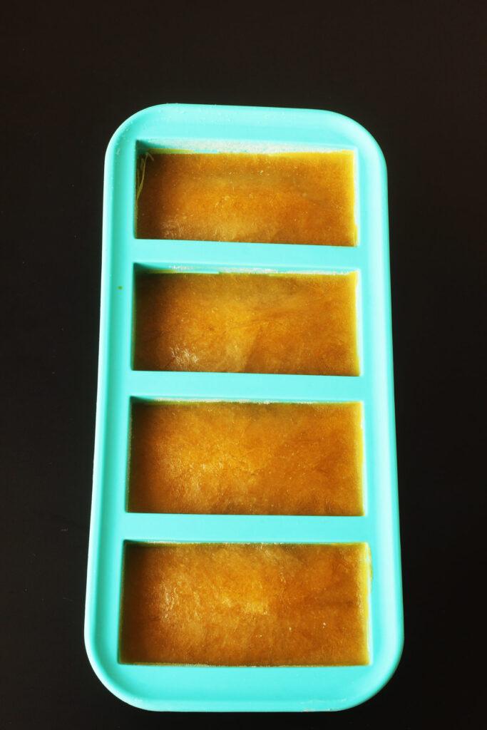 frozen soup in soupercubes