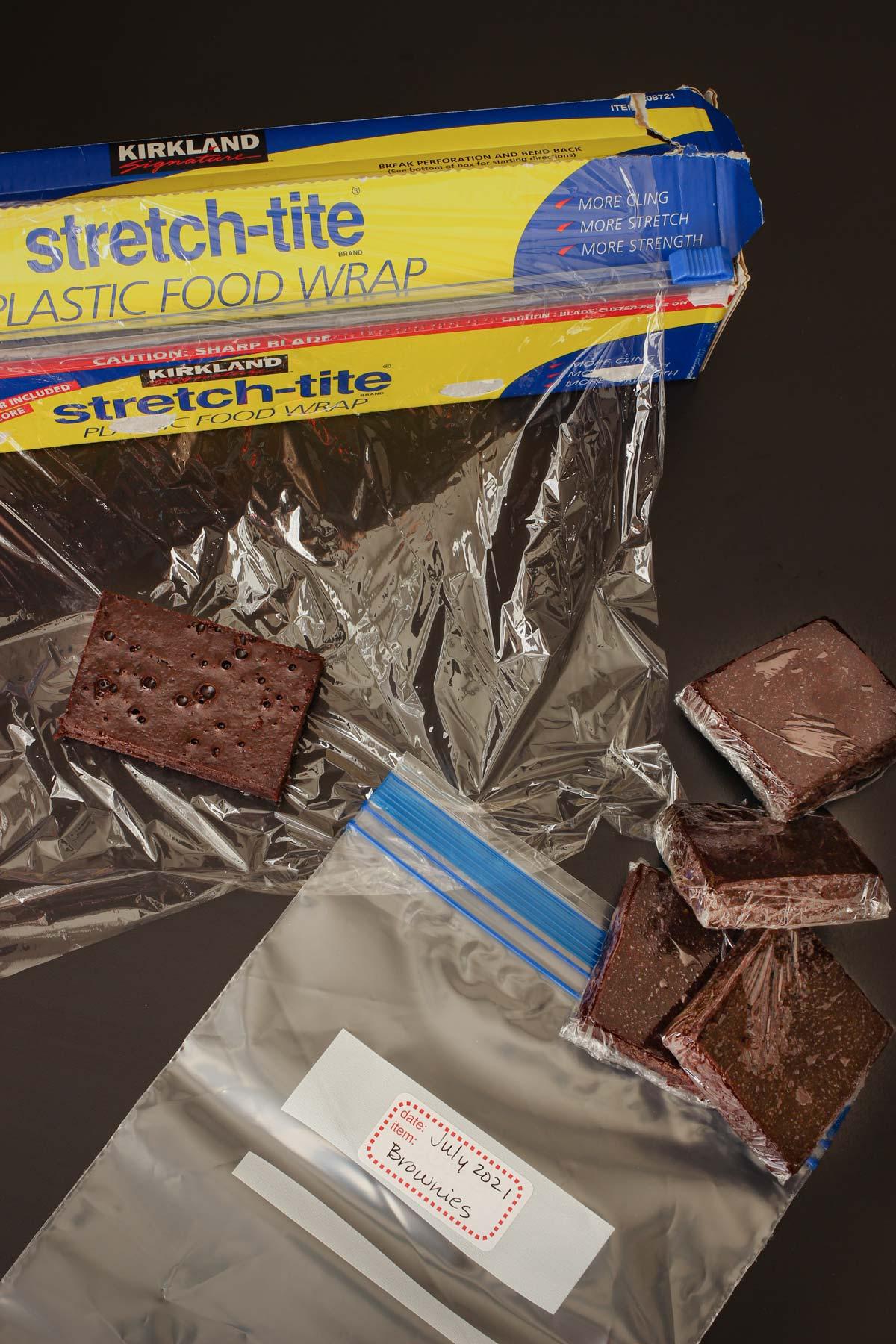 individually wrapped brownies to bag up in ziptop freezer bag.