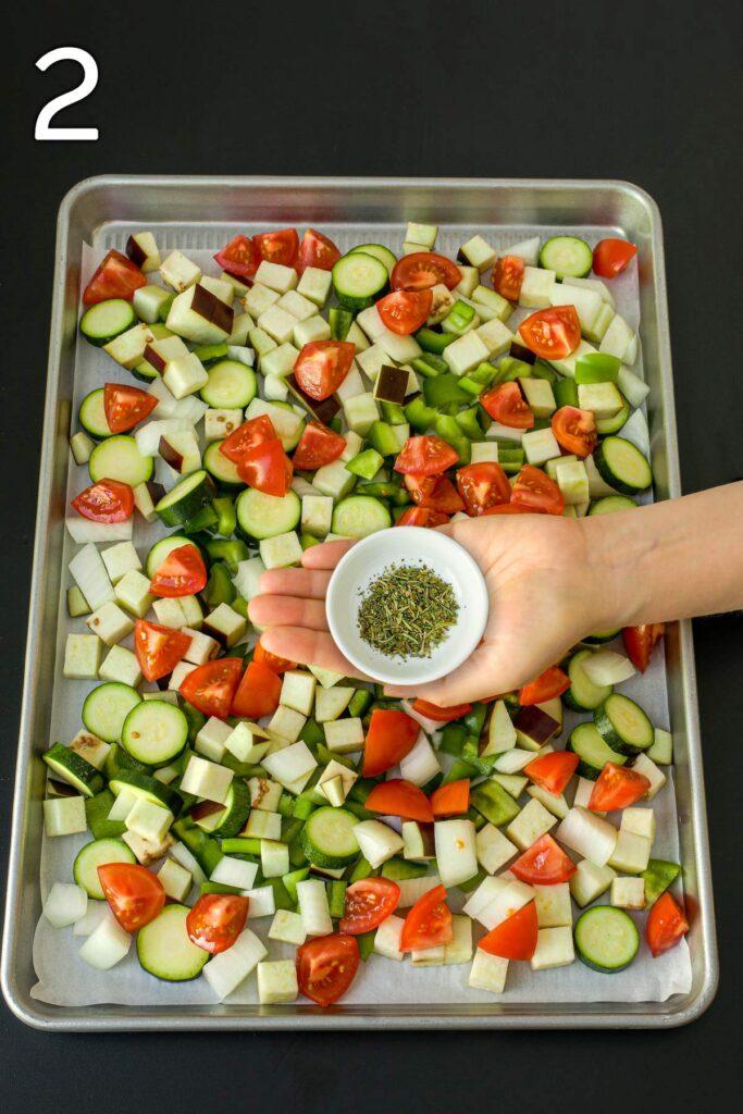 seasonings to add to ratatouille vegetables.