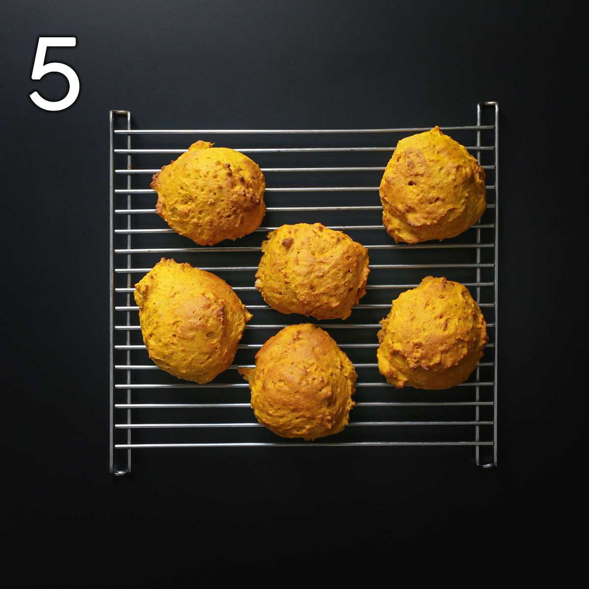 biscuits cooling on wire rack.